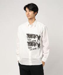THE CLASH/CLASH RIOT 長袖レギュラーシャツ