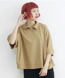 merlot(メルロー)のハーフジップルーズトップス1499(Tシャツ/カットソー)