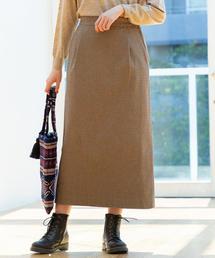 【ムック本掲載】起毛コットンストレッチロングタイトスカート