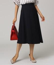 UNTITLED(アンタイトル)のイレギュラーヘムミモレラップ風スカート(スカート)