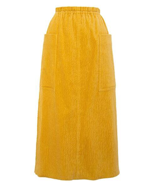 <Drawer(ドゥロワー)> コーデュロイサイドポケットスカート