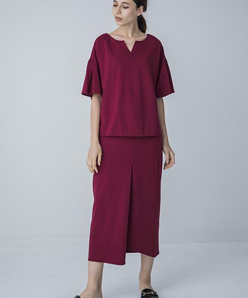 【STYLEBAR】フレアスリーブTシャツ×タイトスカートセットアップ