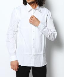 ブロード長袖レギュラーカラーシャツ
