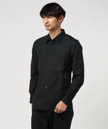 ブロード長袖レギュラーカラーシャツブラック