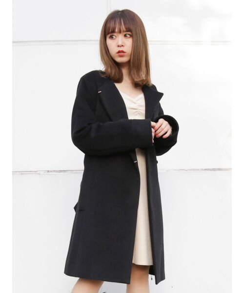 大割引 ファーマフラー付Aラインガーリーコート(チェスターコート)|dazzlin(ダズリン)のファッション通販, 熊野町:687b193f --- heimat-trachtenbote.de