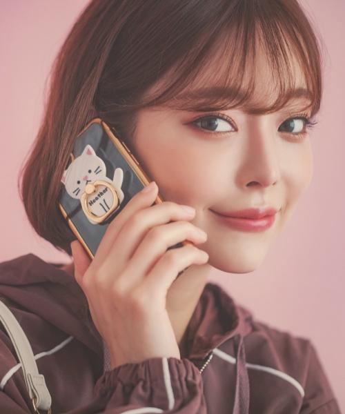 Heather(ヘザー)の「ヘザー×テリ リングツキiPhone8ケース 856424(モバイルケース/カバー)」 ホワイト系その他