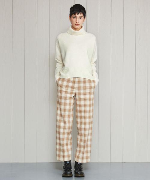 <H>CHECK PANTS/パンツ