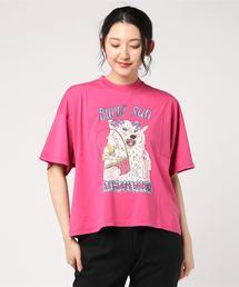 THE GHOST WOLVES/BUNNY RUN オーバーサイズTシャツピンク