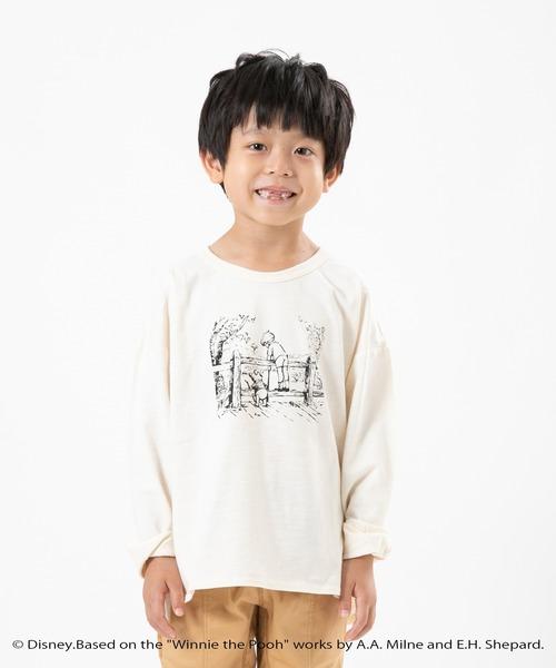 Disney(ディズニー)の「【Disney】くまのプーさん/プリントロングTシャツ(Tシャツ/カットソー)」|オフホワイト