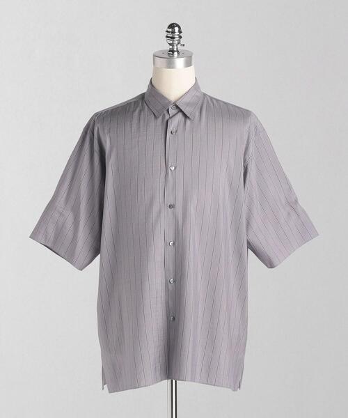 <LOEFF(ロエフ)> SI ストライプ ショートスリーブ レギュラーシャツ MEN'S