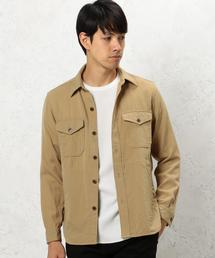 BC DRY/WO/TWILL ARMY シャツアウター◆