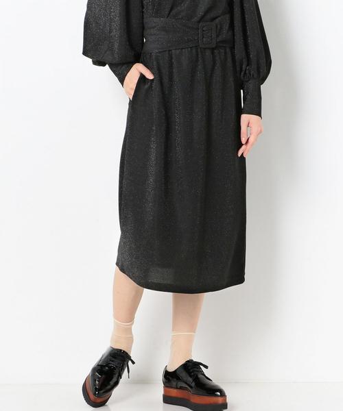 ラメギャザースカート