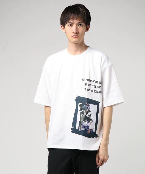 デジタルプリントビッグシルエット半袖Tシャツカットソー