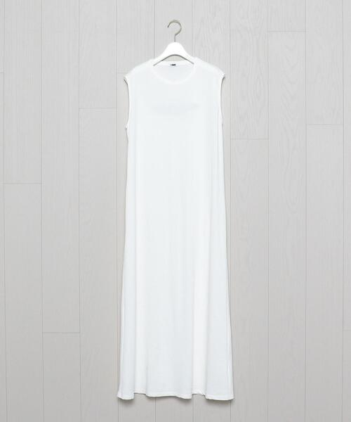 <H>COTTON NO SLEEVE DRESS/ワンピース