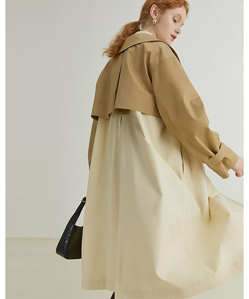 【Fano Studios】【2021AW】Two pieces long trench coat FQ21W029