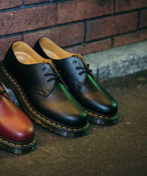 Dr.Martens(ドクターマーチン)の「Dr.Martens ドクターマーチン 1461Z 3EYE GIBSON SHOE 3ホール ギブソン シューズ 11838002 BLACK(ブーツ)」|ブラック