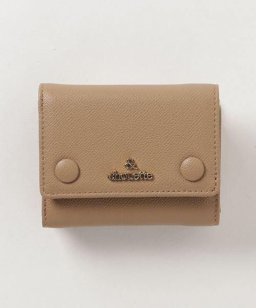 check out 8cc47 7c311 シンプルエコレザー三つ折り財布