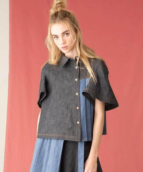 【感謝価格】 デニムプリーツブラウス(シャツ/ブラウス)|AVIE(アビィ)のファッション通販, 大瑠堂:82d2ea9b --- blog.buypower.ng