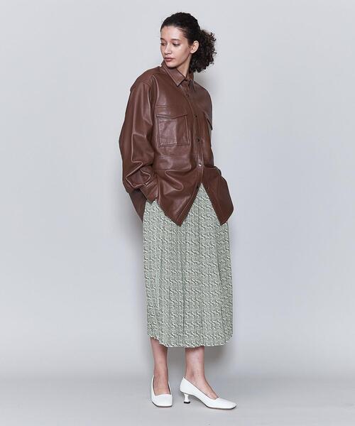 <6(ROKU)>SQUARE DOT PRINT SKIRT/スカート