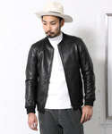 URBAN RESEARCH DOORS MENS | DOORS Leather Rib Blouson(ブルゾン)
