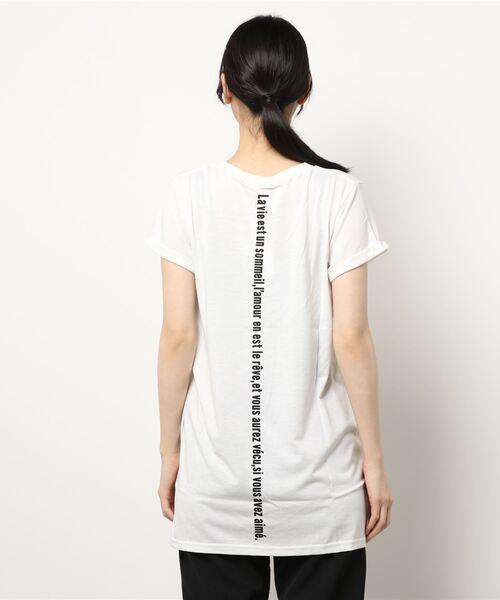 ロング丈プリントゆるTシャツ