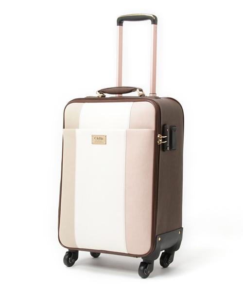 Clelia(クレリア)の「[Clelia/クレリア] キャリーケース レディース トリコロールデザイン(スーツケース/キャリーバッグ)」|桜
