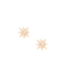 GALLARDAGALANTE(ガリャルダガランテ)のK10 SOLモチーフダイヤピアス(ピアス(両耳用))