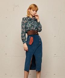 REDYAZEL(レディアゼル)の配色ポケットスリットタイトスカート(スカート)