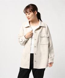 スエードポンチジャケットオフホワイト