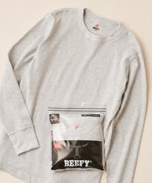 HANES(ヘインズ)の【Hanes/ヘインズ】BEEFY THERMAL CREWNECK LONGSLEEVE 1P/ビーフィーサーマルクルーネックロングスリーブTシャツ(Tシャツ/カットソー)