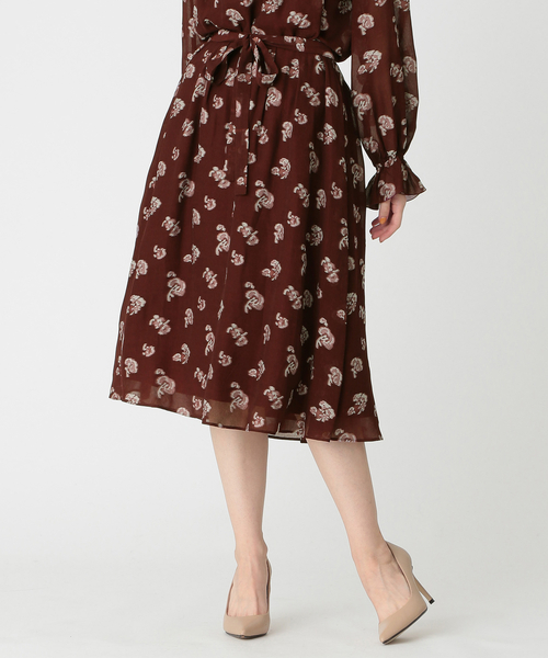 非売品 ◆◆プチフラワージャカードスカート, オオカワシ c4497832
