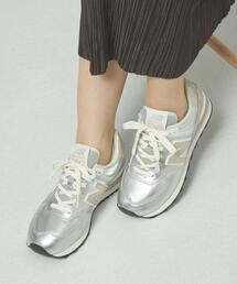 <New Balance>●WL574 metallic スニーカー