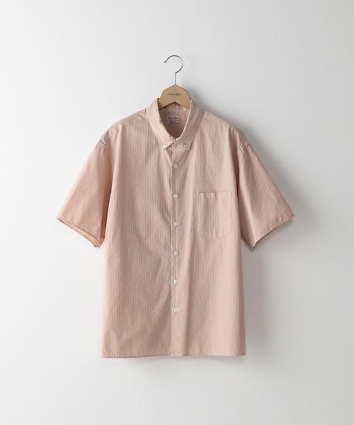 <Steven Alan> O/D DOBBY BOX SINGLENEEDLE BOLD/シャツ ◆