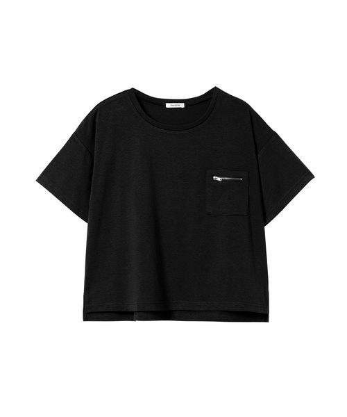ジップポケットシンプルTシャツ