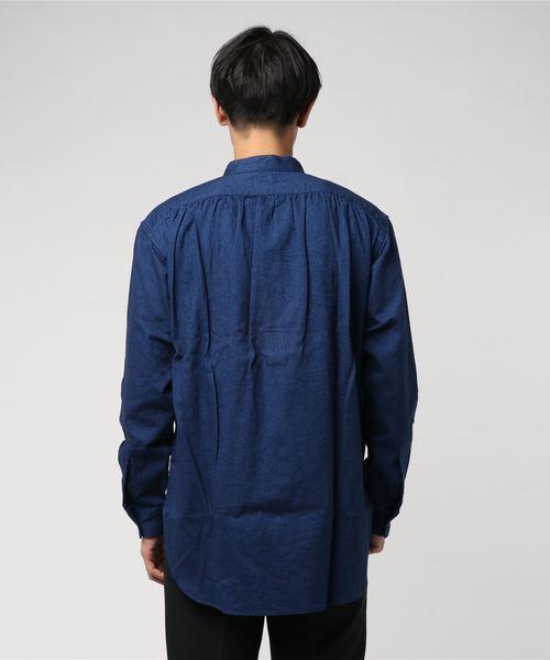 NO COLLAR SHIRTS / H/C TWILL '起毛' ノーカラーシャツ