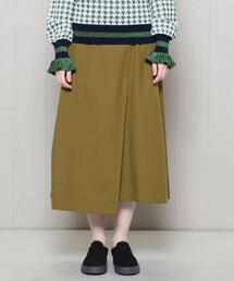 <H>DRY WRAP SKIRT/スカート