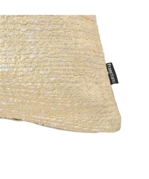 450x450 ジーニア クッションカバー ホワイトxゴールド