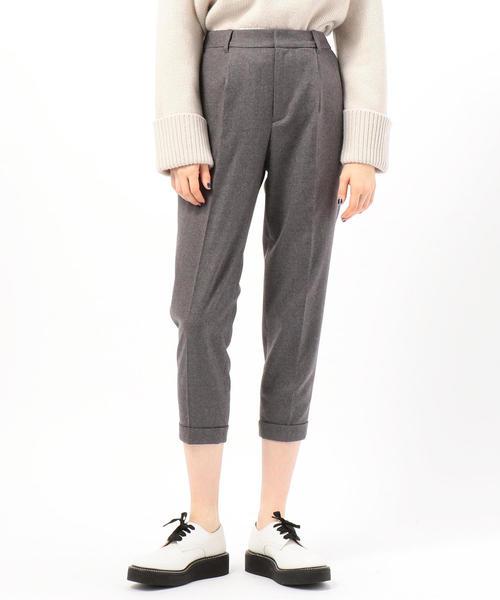 現品限り一斉値下げ! ウールフランネル ベルテッドクロップドパンツ(パンツ) KNOTT(ノット)のファッション通販, 【50%OFF】:46330d5d --- ulasuga-guggen.de