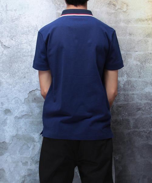 クールマックスストレッチスキッパーデザインポロシャツ(GW)