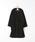 coen(コーエン)の「【WEB限定カラー:ブラック・ナチュラル】ジャージメルトンVネックノーカラーコート(ノーカラージャケット)」|詳細画像