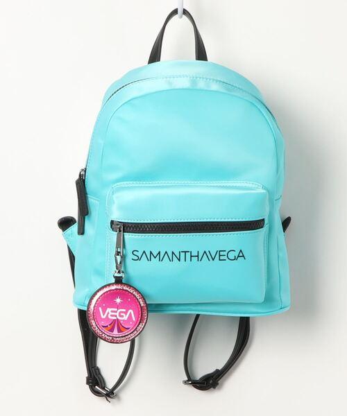 SAMANTHAVEGA(サマンサベガ)の「SAMANTHAVEGAロゴリュック(バックパック/リュック)」|ライトブルー