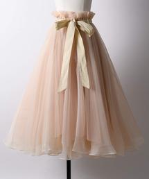 la belle Etude(ラベルエチュード)の【LA BELLE ETUDE】Odette(ボリュームチュールスカート)(スカート)