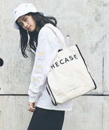 THE CASE(ザケース)の【THE CASE】Marker canvas LOGO TOTE(トートバッグ)