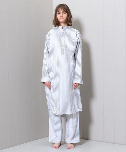 <MAGEE>STRIPE NIGHTY SHIRT/シャツ.