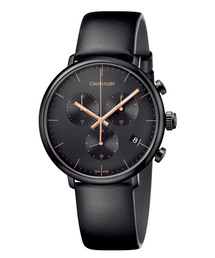 CALVIN KLEIN WATCHES+JEWELRY(カルバン・クライン ウォッチ&ジュエリー)の[カルバンクライン] CALVIN KLEIN 腕時計 High Noon(ハイヌーン) クロノグラフ ブラック×ブラック(腕時計)