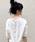AZUL ENCANTO(アズールエンカント)の「【洗濯機で洗える】【消臭効果】バックヘンリーネックワッフルVネックプルオーバー(Tシャツ/カットソー)」|ホワイト