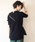 AZUL ENCANTO(アズールエンカント)の「【洗濯機で洗える】【消臭効果】バックヘンリーネックワッフルVネックプルオーバー(Tシャツ/カットソー)」|ブラック