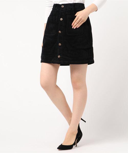 太コール台形ミニスカート
