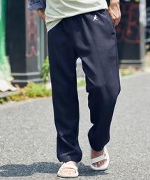 KANGOL/カンゴール MONO-MART別注 テックリネン ロゴ刺繍 シェフパンツネイビー
