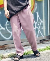 KANGOL/カンゴール MONO-MART別注 テックリネン ロゴ刺繍 シェフパンツライラック